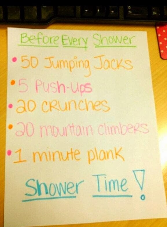 Before Every Shower..