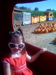 Natalie at the pumpkin patch