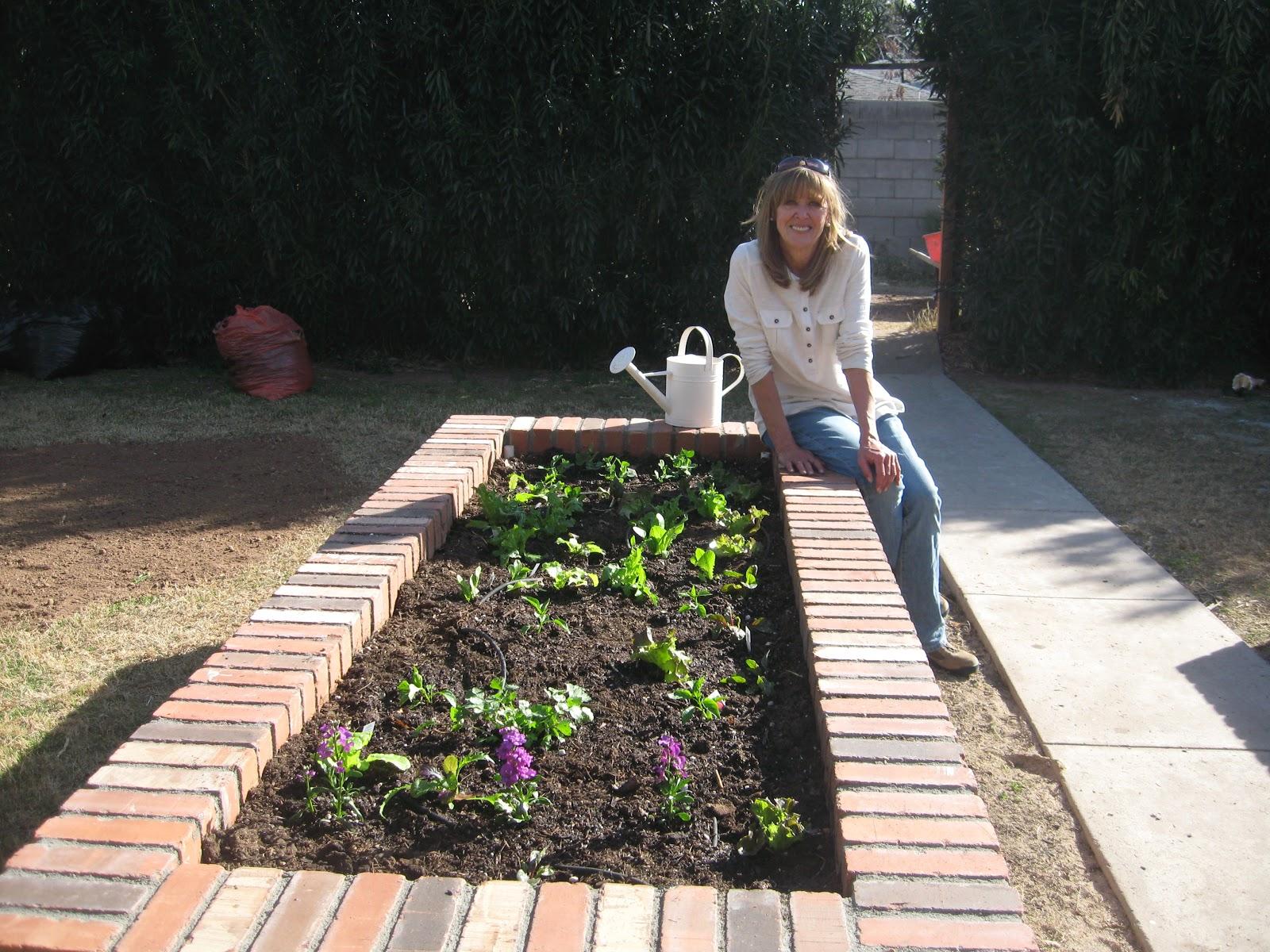 Garden Bed Bricks : Neighborhood garden party brick raised beds
