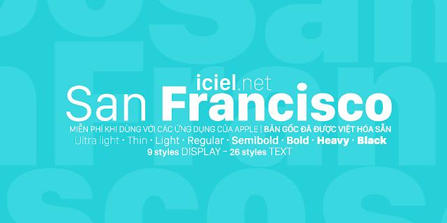 [Sans-serif] San Francisco Việt hóa