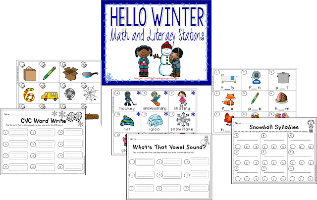 Winter centers for kindergarten, January kindergarten centers