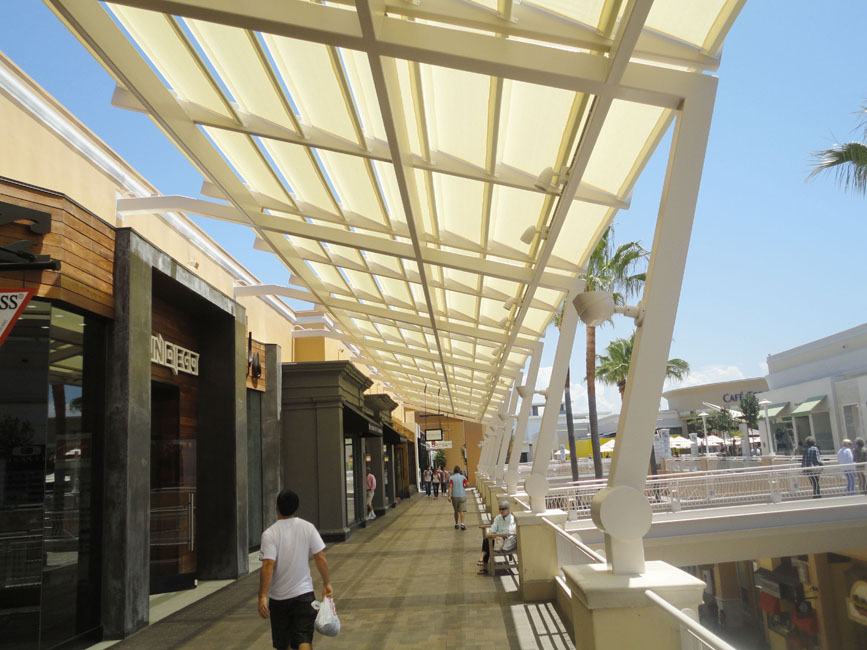 Eide industries inc fabric structures fashion valley for Shade cloth san diego