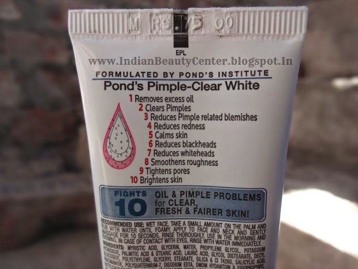 Ponds Pimple Clear White Face Wash