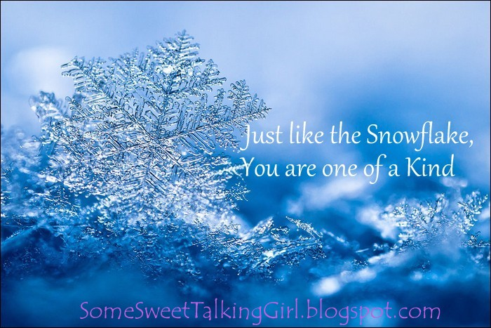 Some Sweet Talking Girl: Snowflake activity