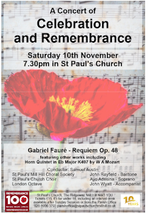 Memorial Concert for Remembrance Sunday