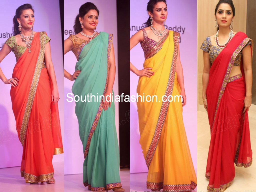 designer sarees at FLO fashion show