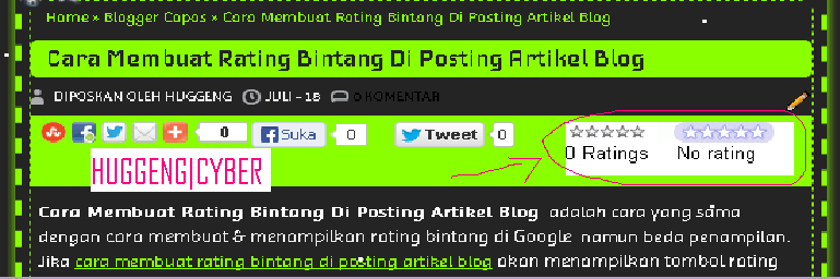 Cara Membuat Rating Bintang Di Posting Artikel Blog