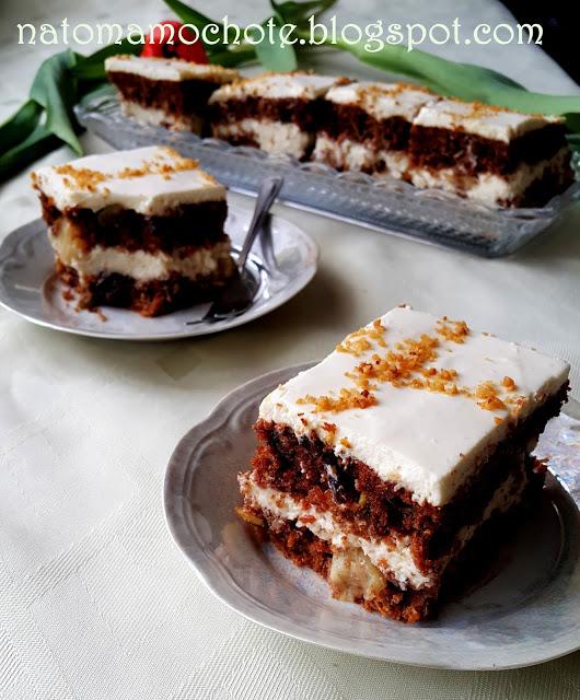 Ciasto Marchewkowe z Kremem Serkowym