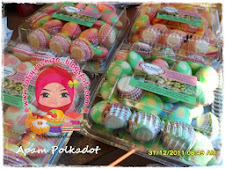 Apam Polkadot ... (inti blueberry, strawberry & coklat)