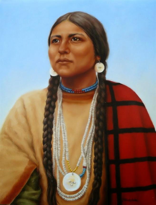 Históricamente, la mayoría mujeres y niños nativos americanos usaban trenzas con distinto significado por ejemplo se podía diferenciar si una mujer estaba