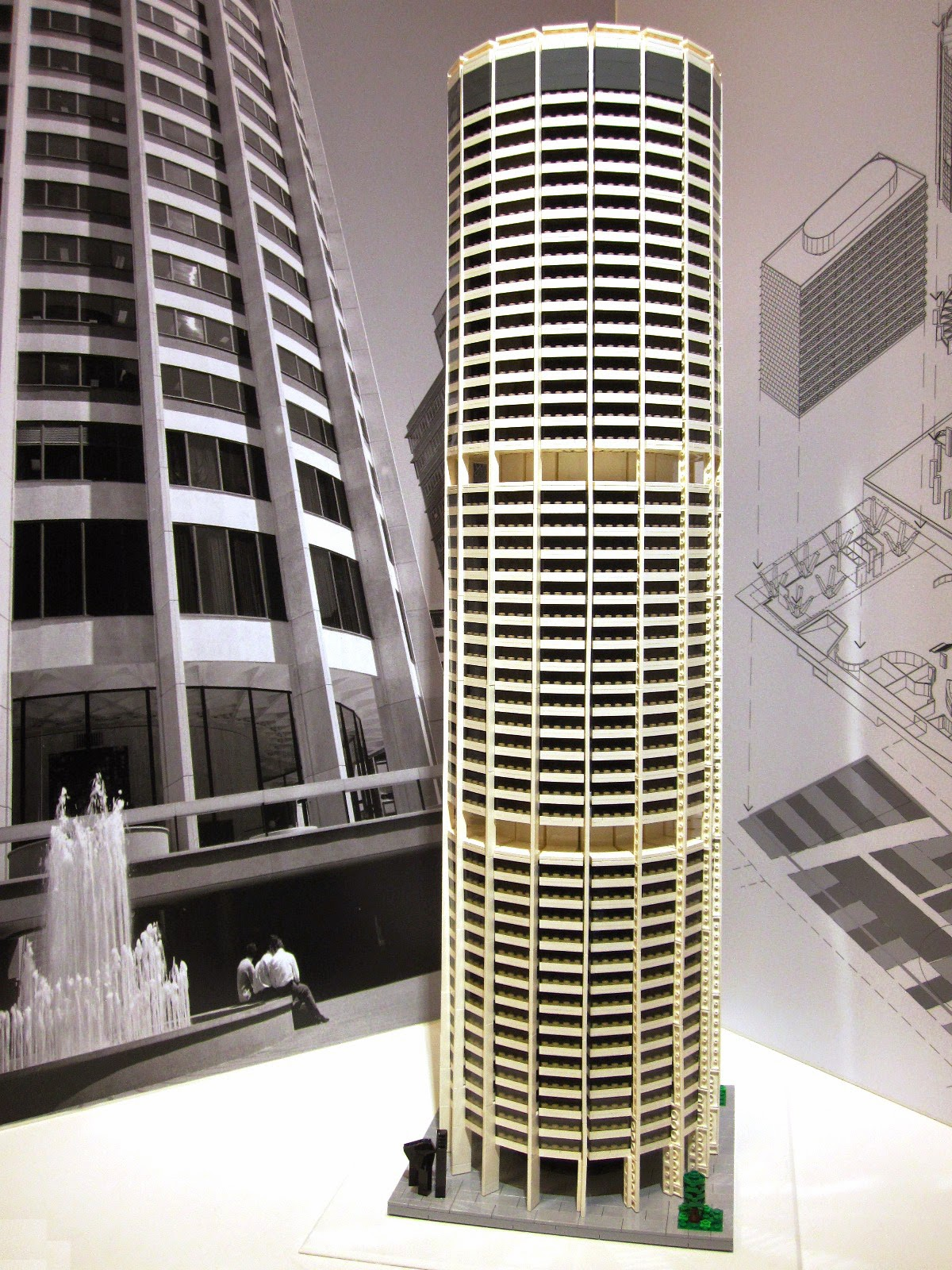 Harry Seidler's Australia Square, made of Lego.