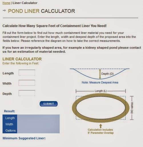 http://www.westernliner.com/liner-calculator.html