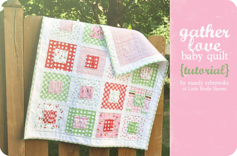 Gather love baby quilt tutorial riley blake fabrics
