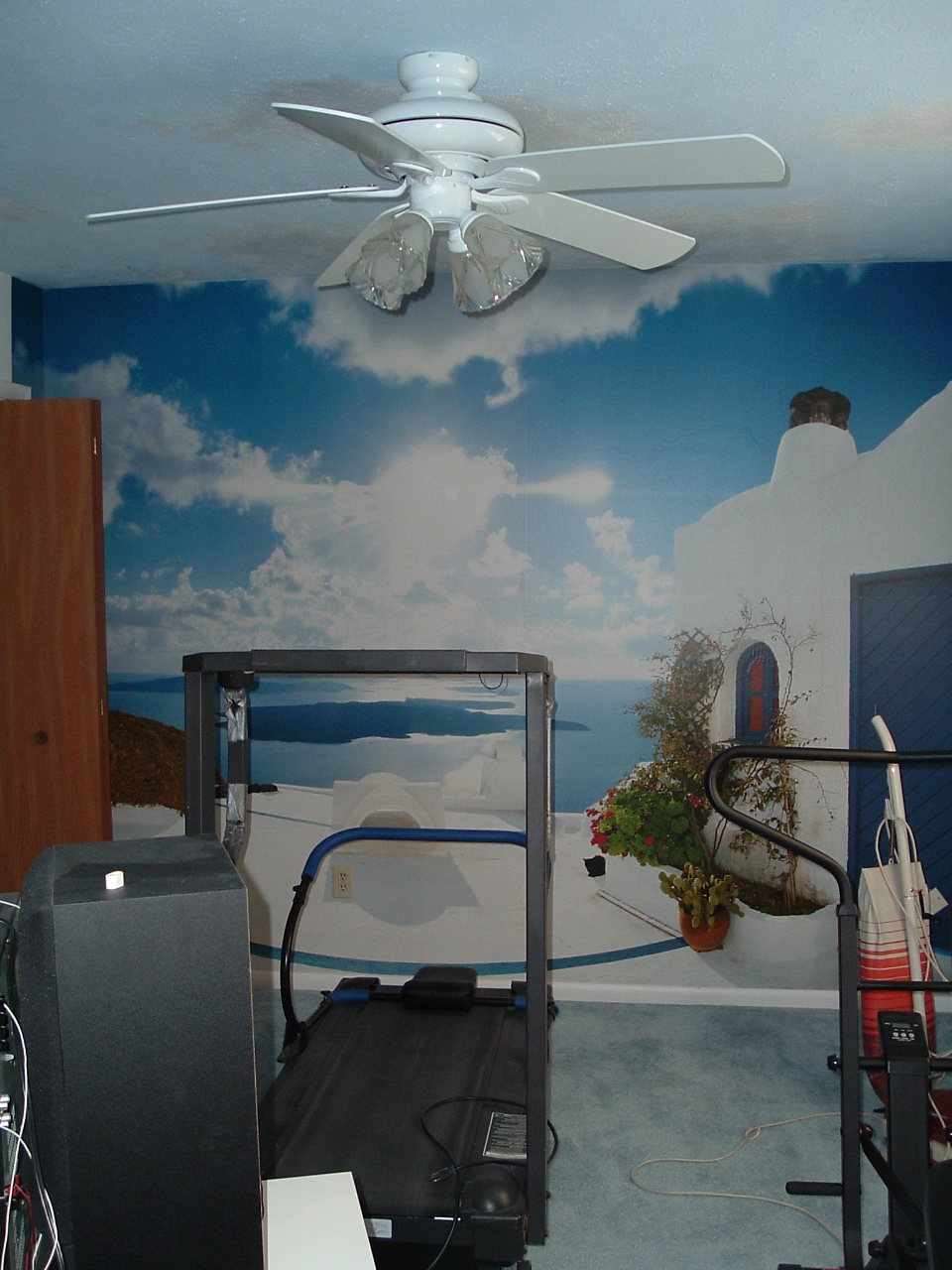 Cathypaints wallpaper borders murals for Ceiling mural in smokers lounge