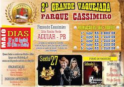 II grande vaquejada do parque Cassimiro em Aguiar