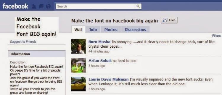 Facebook Font Size