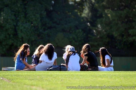Surprise picnic for a friend, Taradale Park, Taradale, Napier photograph