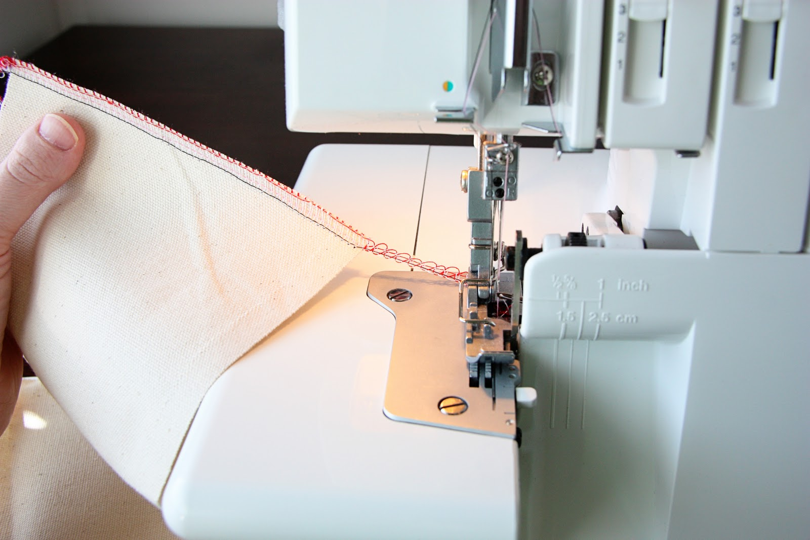 Using A Serger Make It And Love Free Kenmore Sewing Machine Treading Diagrams Thread To Continue Then Cut Off You Always Want Leave Trail Of Serged Attached The So That Threads Stay In Place
