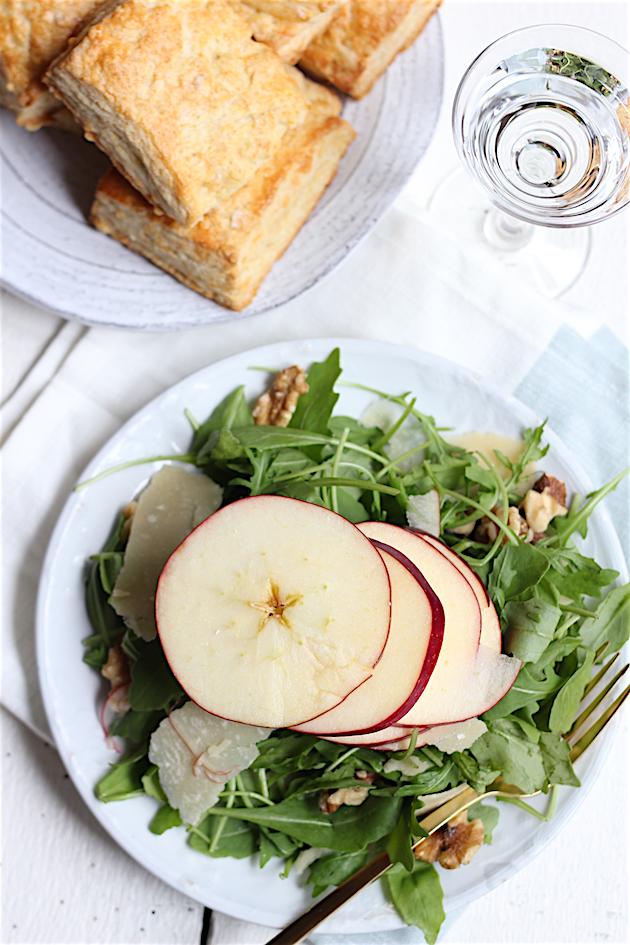 Stacked Apple, Parmesan, and Walnut Salad | Savor Home