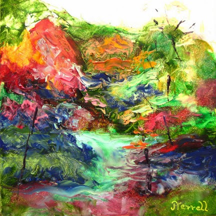 Joan Terrell colorful oil painting palette knife fauve impressionism