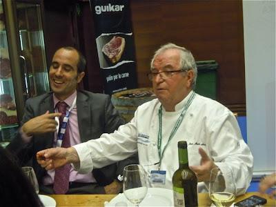 Arzak en Gastronomika 2012 con vinos Comenge. Blog Esteban Capdevila
