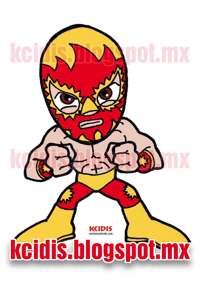 monoluchas de kcidis: Dibujo de luchador Solar