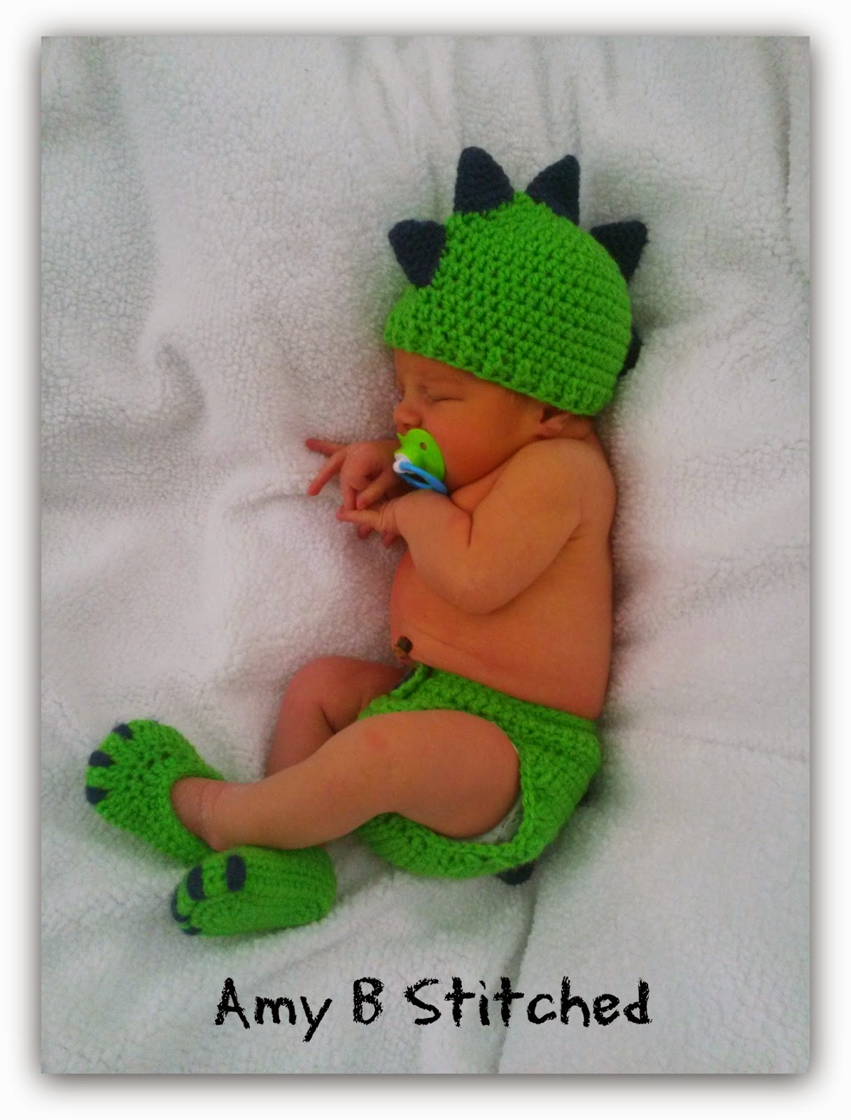 Crochet Pattern For Baby Dinosaur Hat : A Stitch At A Time for Amy B Stitched: DINOSAUR BABY Hat ...