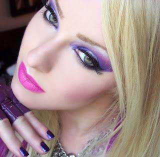 Monroe Misfit Makeup | Beauty Blog FOTD Blackheart Beauty  80u0026#39;s Glam Rock Intoxicating Mega ...
