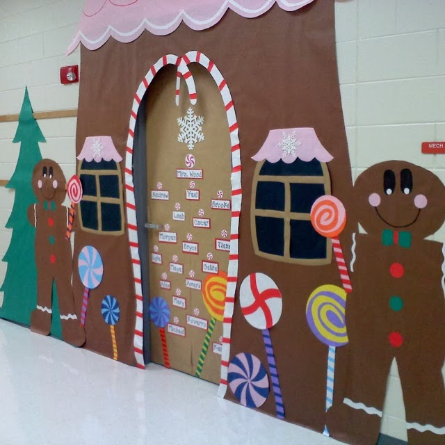 Christmas Door Decorating Contest Ideas For School : C?mo decorar una puerta en navidad solountip