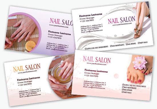 4 More Salon Business Cards Photoshop Templates