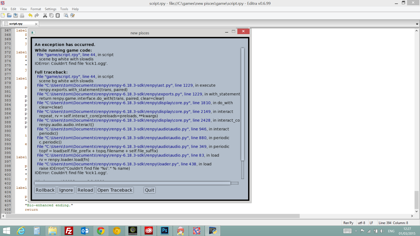 more errors!