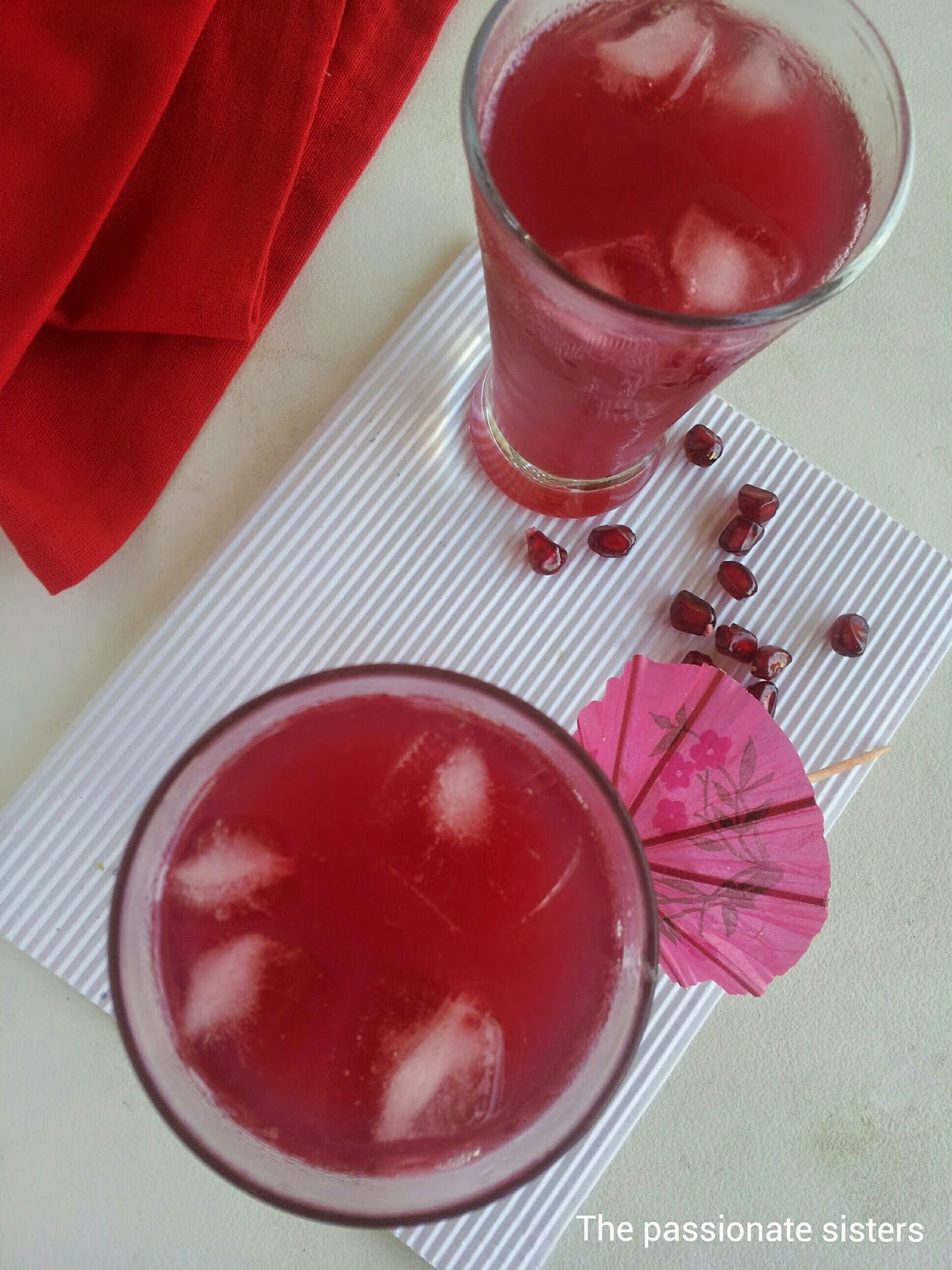 pomegranate lemon soda