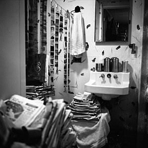 Baño de Vivian Maier, Chicago, 1956