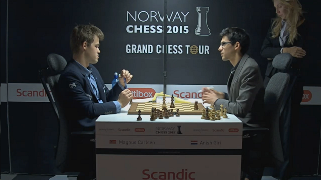 Norway Chess 2015. Magnus Carlsen - Anish Giri