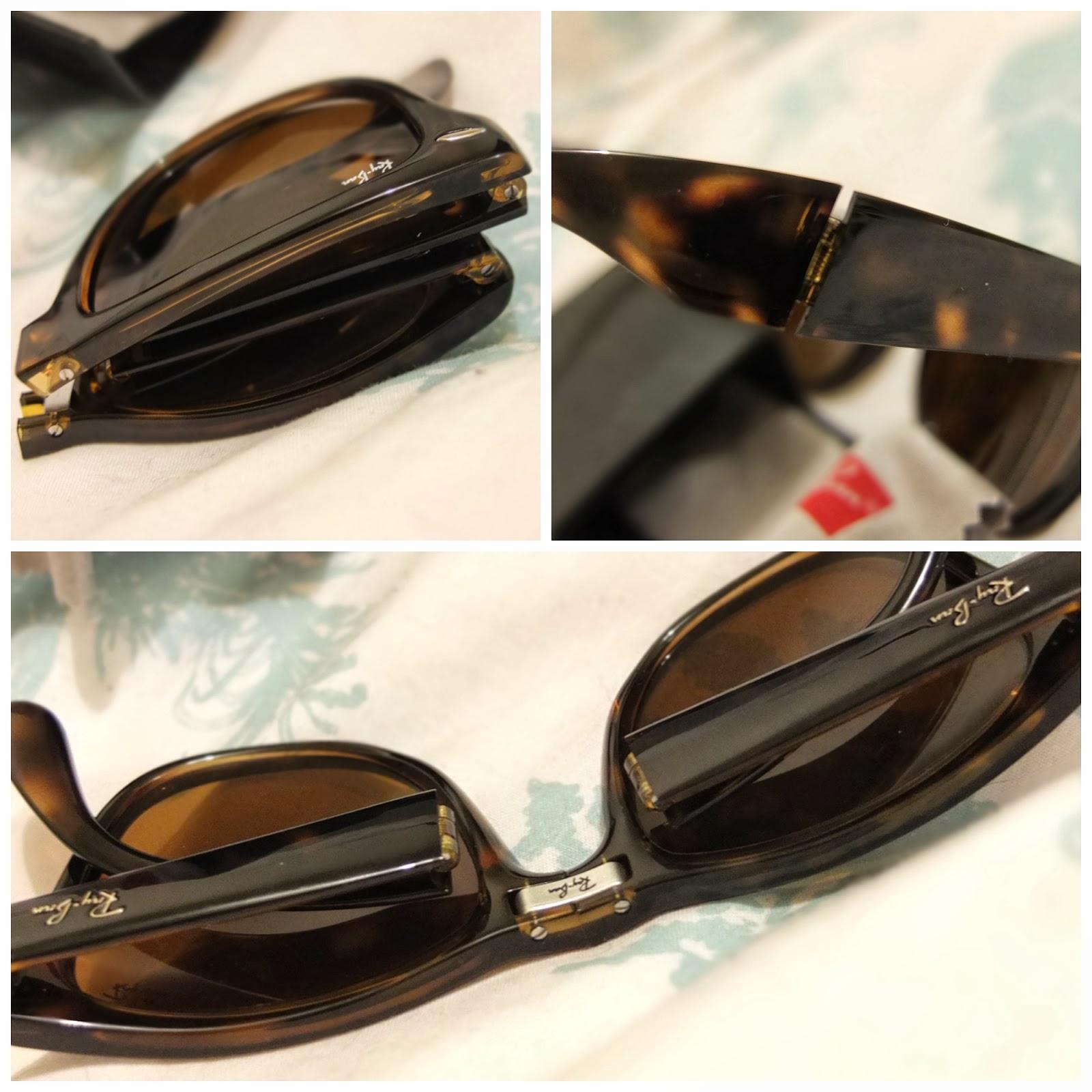 Folding Ray Ban Wayfarer Sunglasses