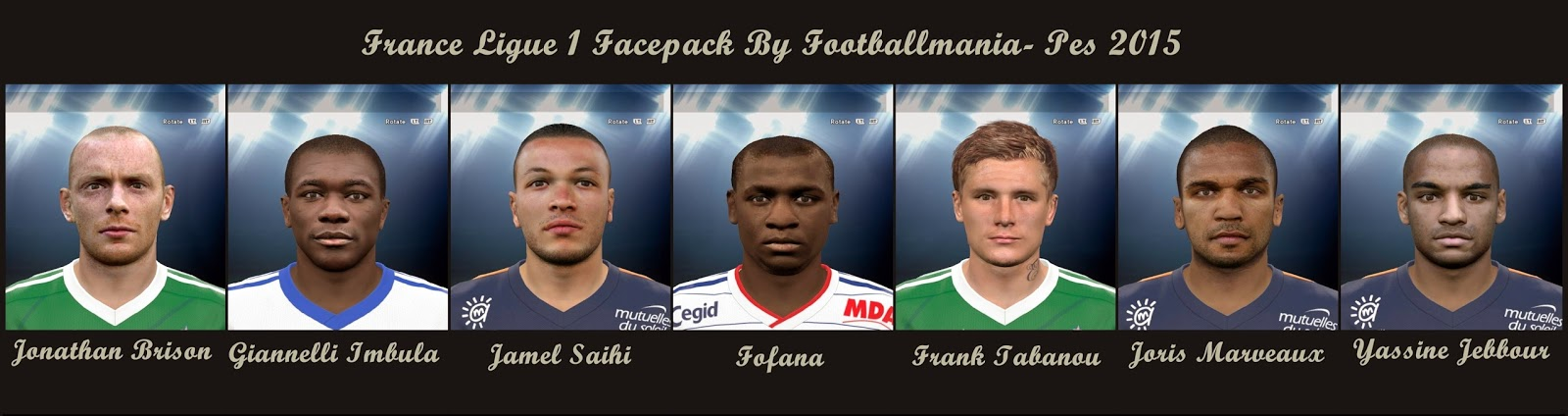 PES 2015 France Ligue 1 Facepack by FootballMania