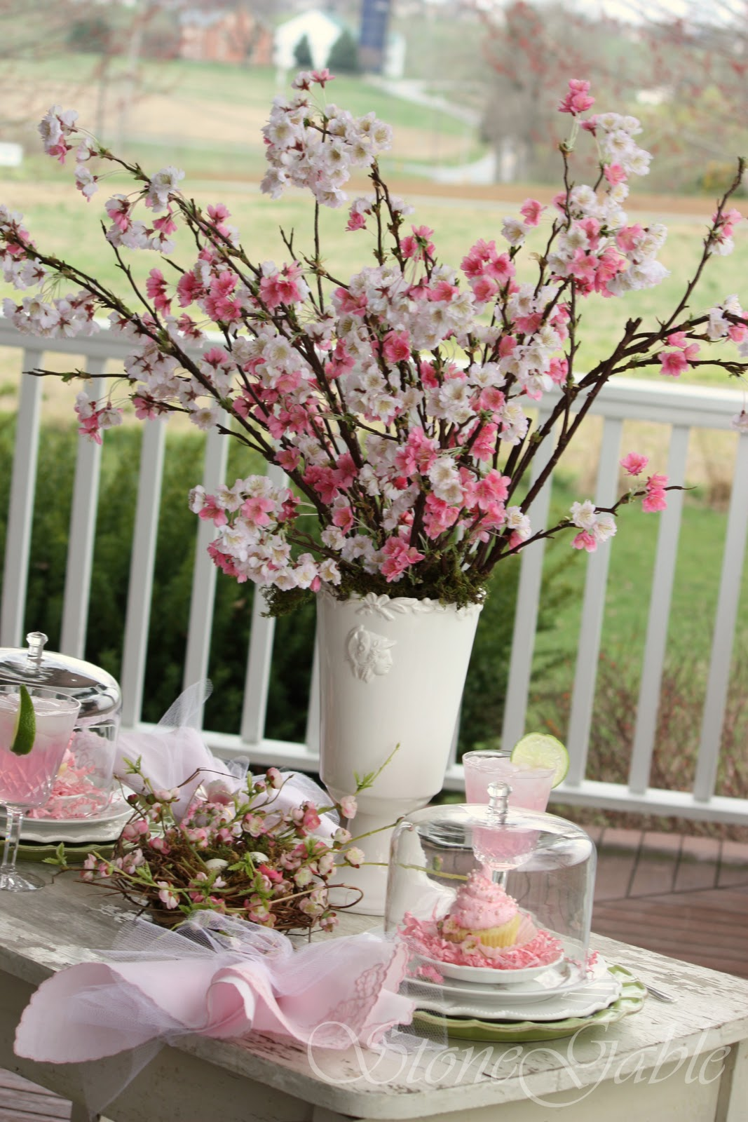 Cherry blossom table stonegable