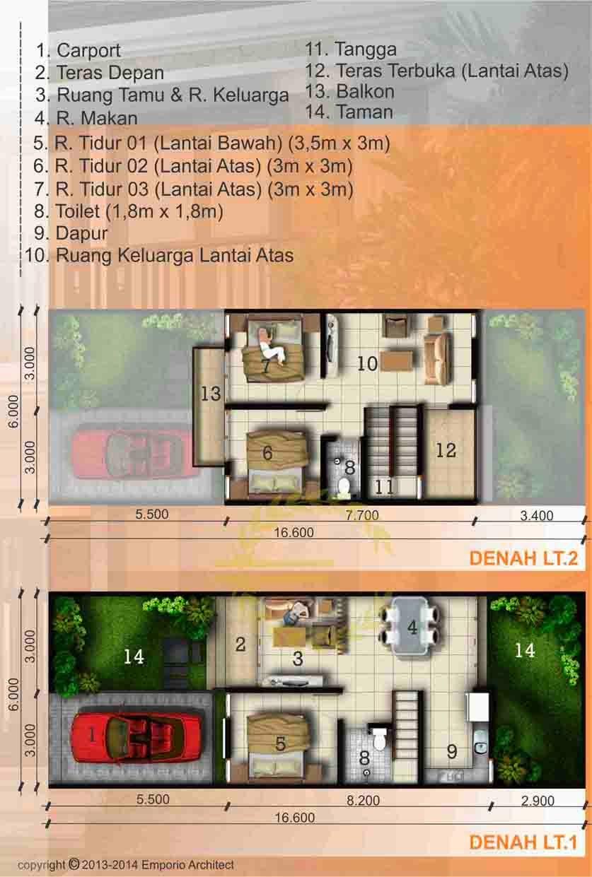 desain rumah minimalis 2 lantai  jogja