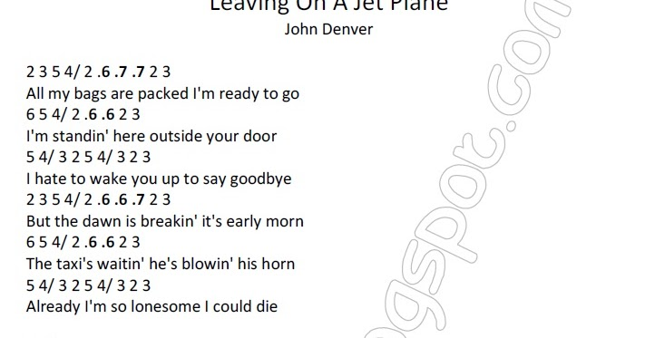 pencarian not angka : Not Angka Lagu Leaving On A Jet ...