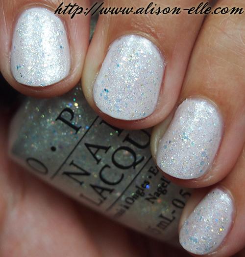 Opi Light Blue Glitter Nail Polish