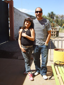 Con mi esposo, tu tio Claudio