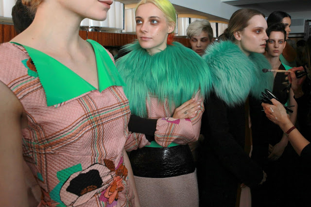 Roksanda Ilincic Fall/Winter Collection 2013 backstage