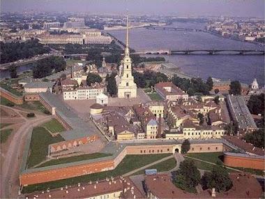 Санкт-Петербург, Петропавловская крепость с высоты птичьего полёта