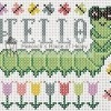 hello caterpillar spring cross stitch chart