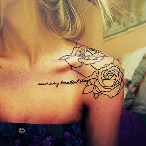 Flower Shoulder Tattoos ~ Women Fashion And Lifestyles