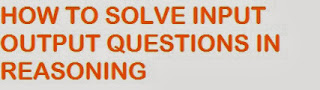 reasoning input output questions