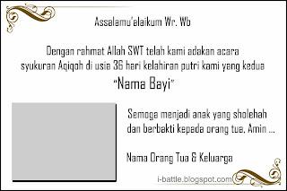 Kartu Ucapan Kelahiran Bayi