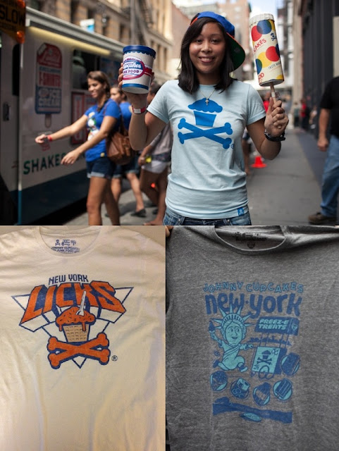 Johnny Cupcakes x Junk Food Tastemakers Ice Cream Truck Tour New York Exclusives and Packaging - New York Licks & Lady Liberty