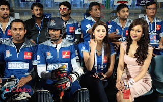Indian Actresses Pictures at CCL 3 Final  Match Between Karnataka Bulldozers Vs Telugu Warriors  0001