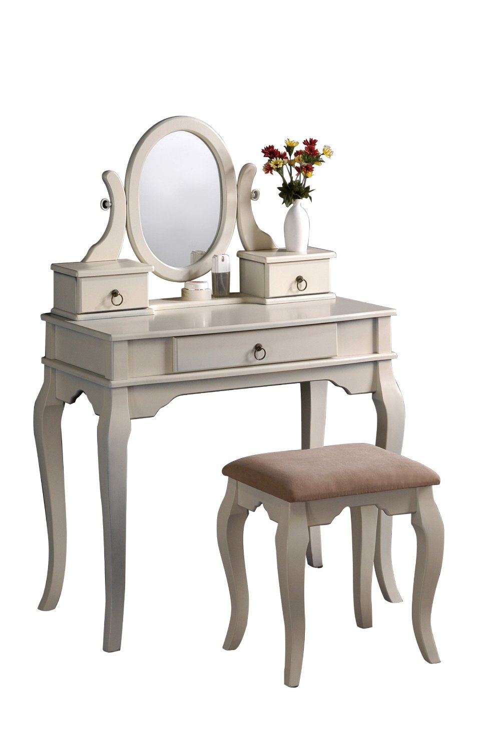 Vanity Tables With Oval Mirror